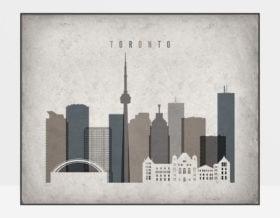 Toronto art print landscape retro