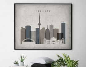 Toronto art print landscape retro second