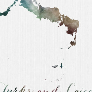 Turks and Caicos map poster detail