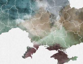 Ukraine map poster detail