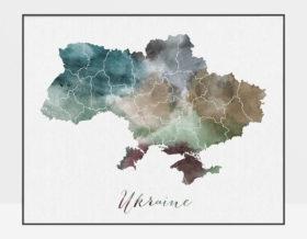 Ukraine map poster