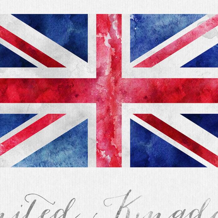 United Kingdom flag art print detail