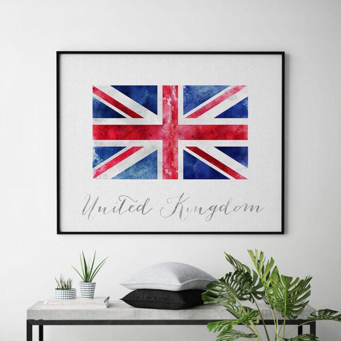 United Kingdom flag art print second