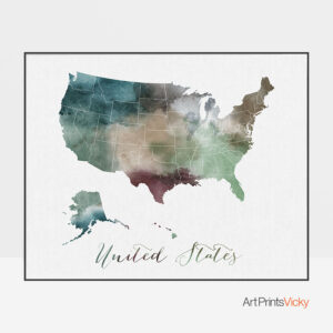 United States map poster