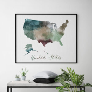 United States map poster second