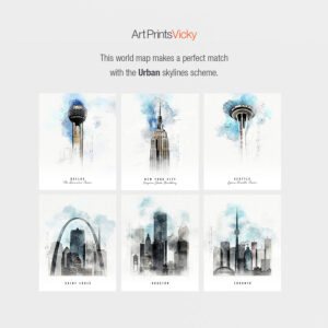 Urban skylines poster map match