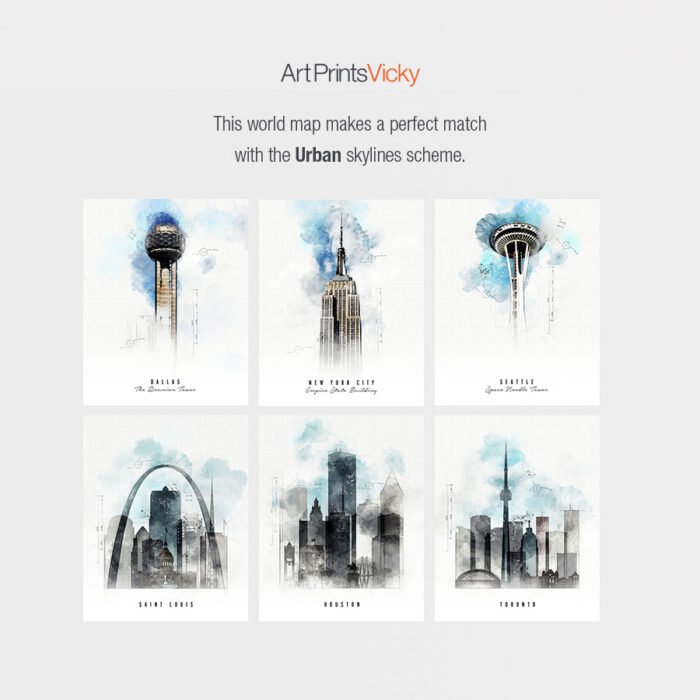 Urban skylines poster map match