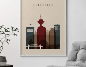 Vancouver poster earth tones 2 second