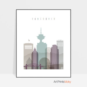 Vancouver travel poster pastel 2