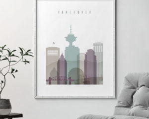 Vancouver travel poster pastel 2 second