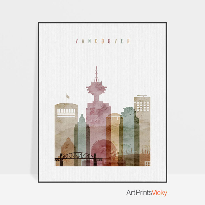 Vancouver poster watercolor 1