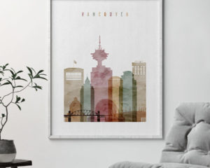 Vancouver poster watercolor 1 second