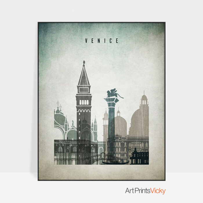 Venice poster distressed 3