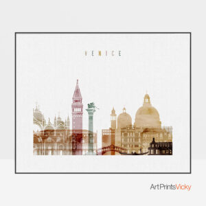 Venice poster watercolor 1 landscape