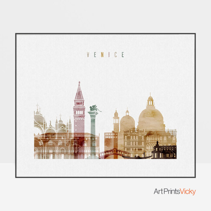 Venice poster watercolor 1 landscape