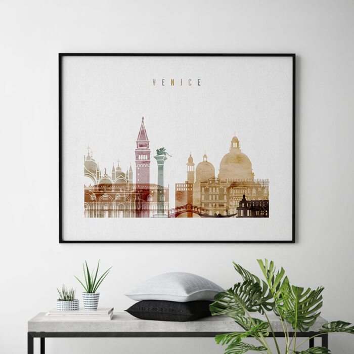 Venice poster watercolor 1 landscape second