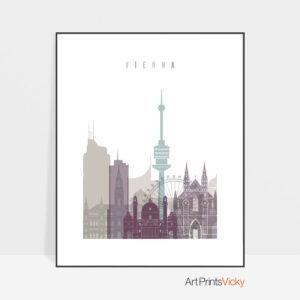 Vienna travel poster pastel 2