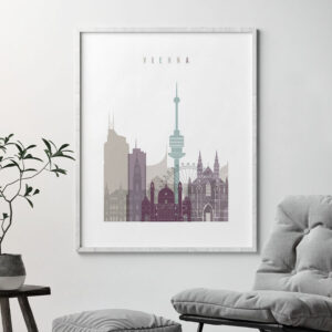 Vienna travel poster pastel 2 second