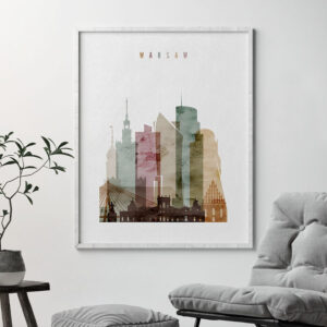 Warsaw poster watercolor 1 second