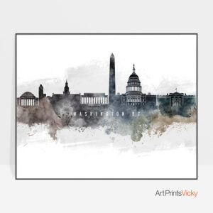 Washington DC art poster watercolor
