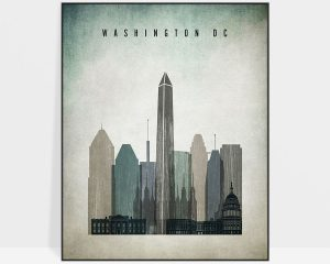 Washington DC poster distressed 3