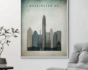 Washington DC poster distressed 3 second