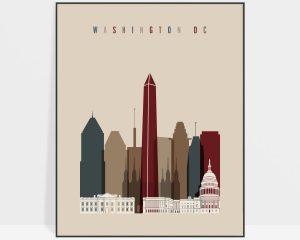Washington DC poster earth tones 2