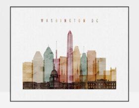Washington DC art print watercolor 1 landscape