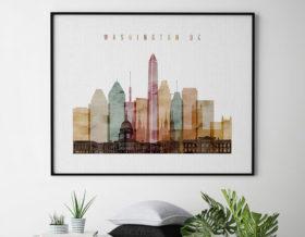 Washington DC art print watercolor 1 landscape second