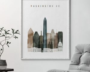 Washington DC poster watercolor 2 second