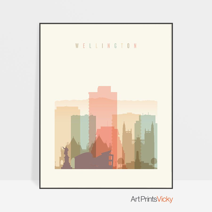 Wellington art print pastel cream