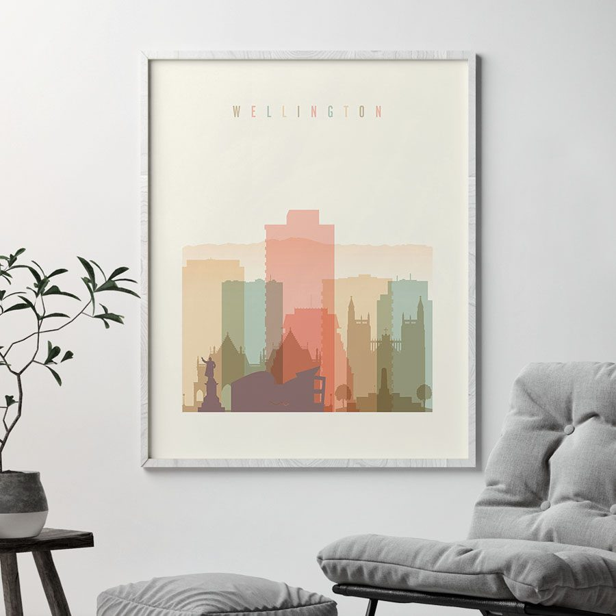 Wellington art print pastel cream second