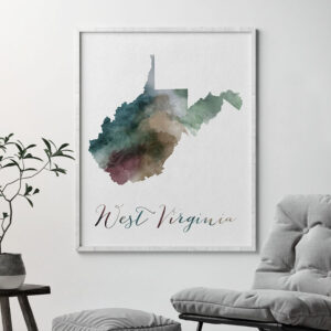 West Virginia State map print second