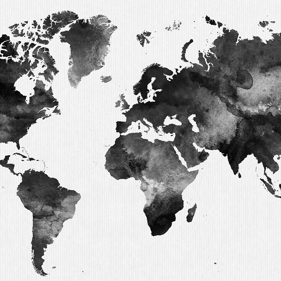 World Map Black And White World Map Black And White Print | Art Prints Vicky World Map Black And White