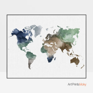 Map wall art poster