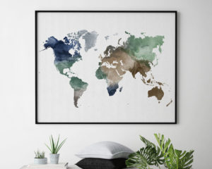 Map wall art poster second