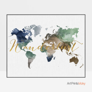 World Map Wanderlust Print