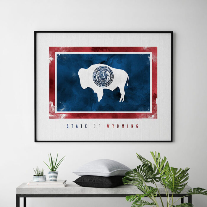 Wyoming State flag art print second