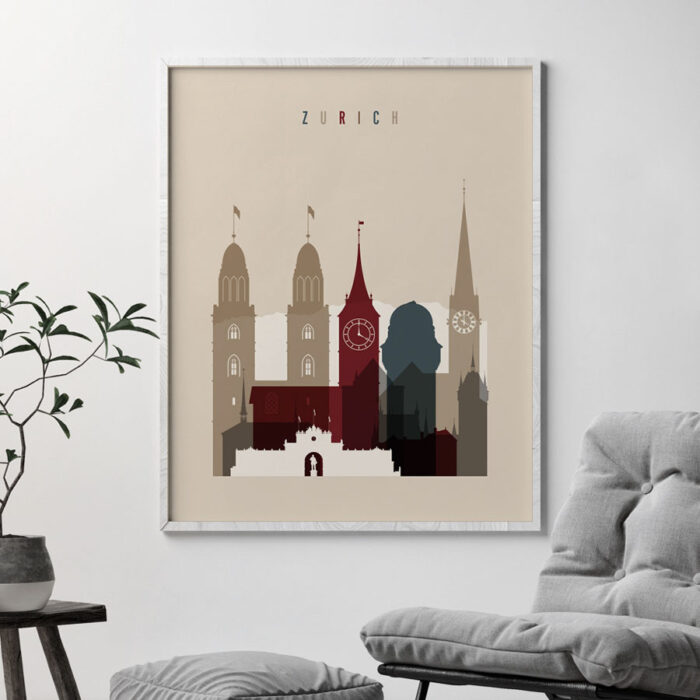 Zurich poster earth tones 2 second